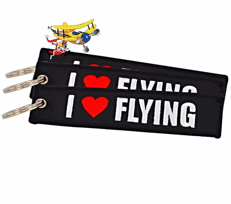 3e5f942a44b I LOVE FLYING key ring   banner Many uses